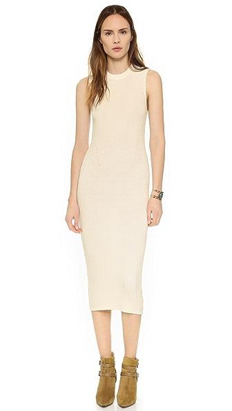 Enza Costa Ribbed Knit Midi Dress