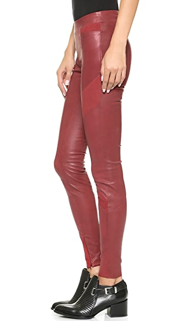 ElevenParis Fritz Stretch Leather & Suede Pants