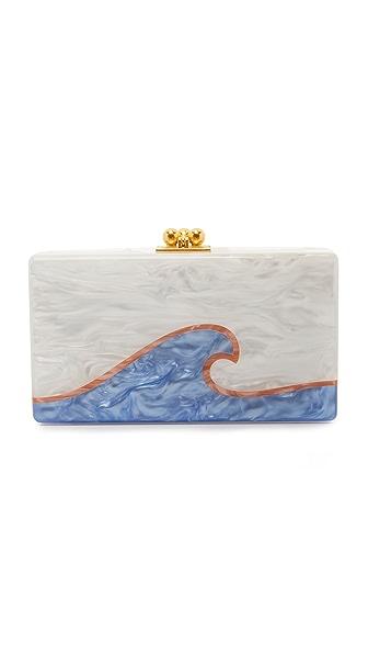 Edie Parker Jean Tidal Wave Clutch