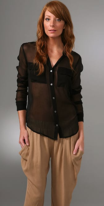Equipment Sisley Chiffon Signature Blouse