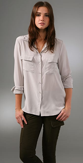 Equipment Classic Washed Silk Blouse
