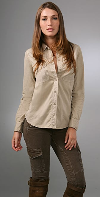 Equipment Supernatural Poplin Blouse