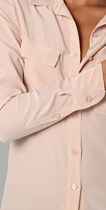 Equipment Classic Washed CDC Blouse