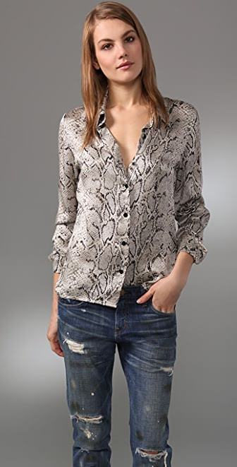 Equipment Fanfare Washed Satin Blouse