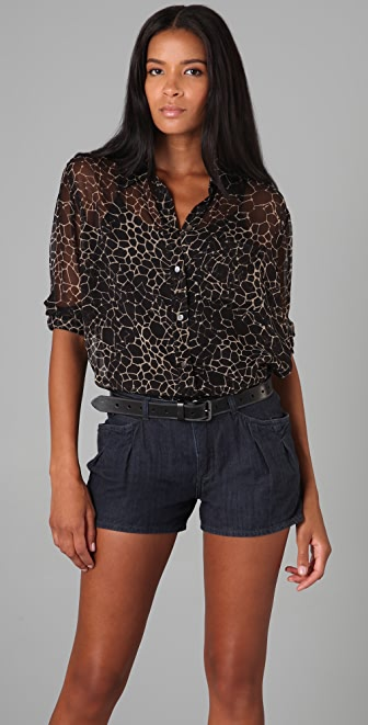Equipment Abstract Croc Daddy Blouse