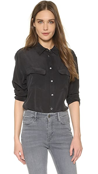 Equipment Signature Blouse - Black