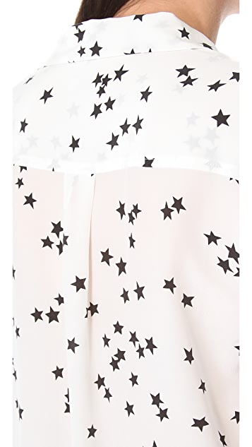 Equipment Starry Night Slim Signature Blouse