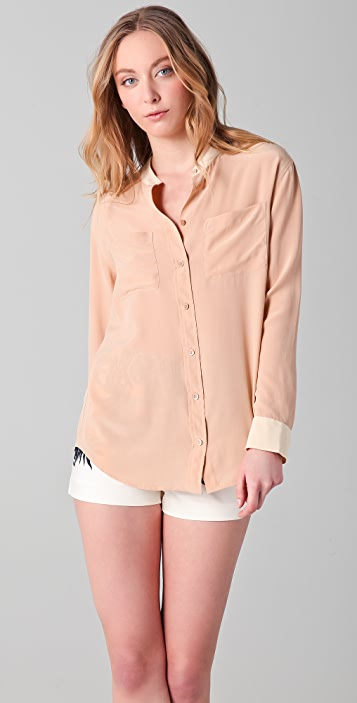 Equipment Bailey Colorblock Blouse