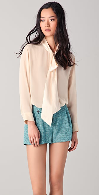 Equipment Meredyth Contrast Blouse
