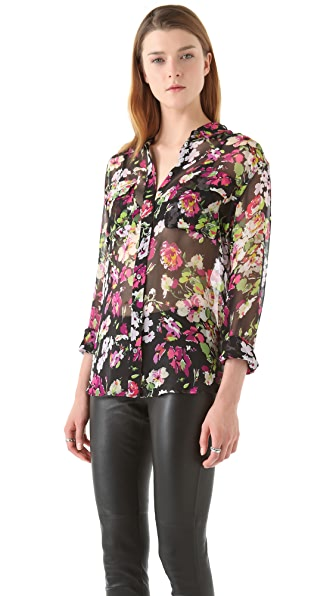 Equipment Signature Floral Symphony Blouse