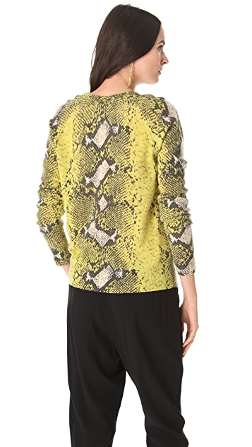 Equipment Sloane Python Print Cashmere Sweater