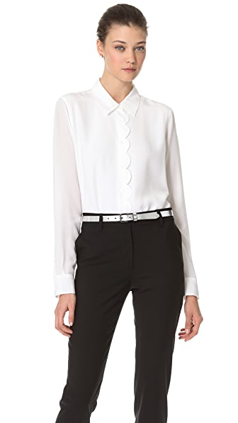 Equipment Brett Clean Scalloped Blouse