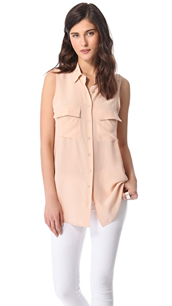 Equipment Sleeveless Signature Blouse