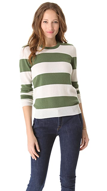 Equipment Shane Striped Cashmere Sweater