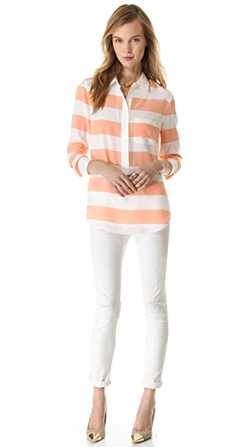 Equipment Capri Stripe Henley Top