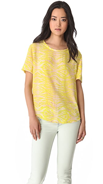 Equipment Riley Reptile Print Top