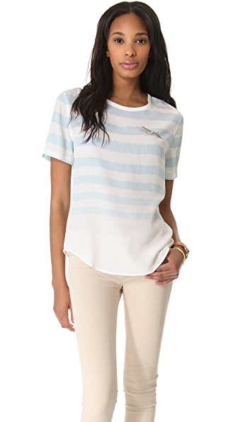 Equipment Riley Aviation Stripe Tee