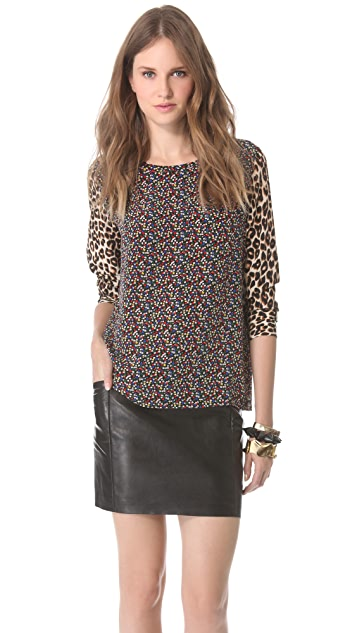 Equipment Liam Blouse with Contrast Prints