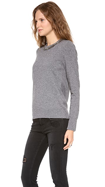 Equipment Shane Embellished Neck Sweater