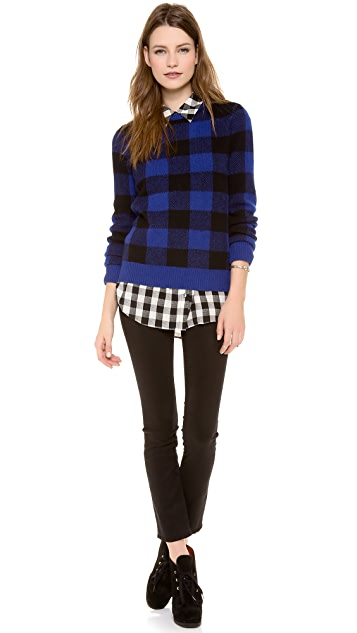 Equipment Shane Plaid Crew Neck Sweater