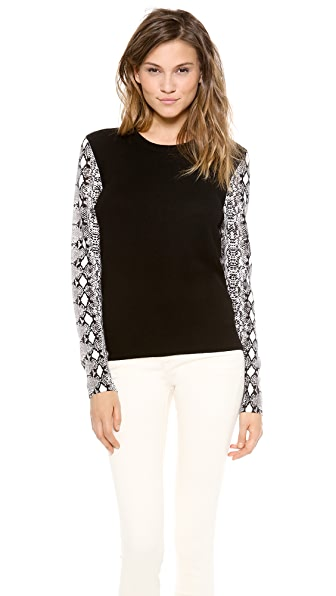 Equipment Shane Sweater with Contrast Sleeves