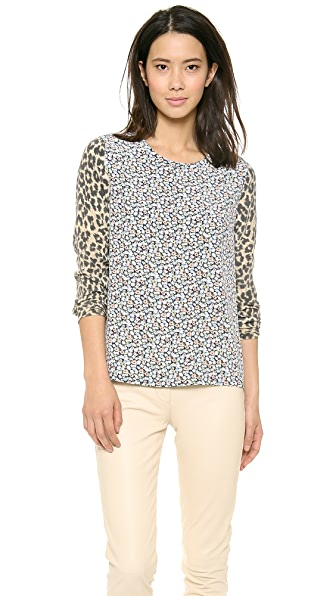Equipment Liam Blouse with Contrast Sleeves