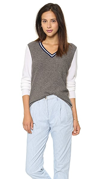 Equipment Genevieve V Neck Sweater