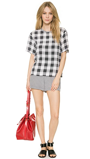 Equipment Logan Blouse with Contrast