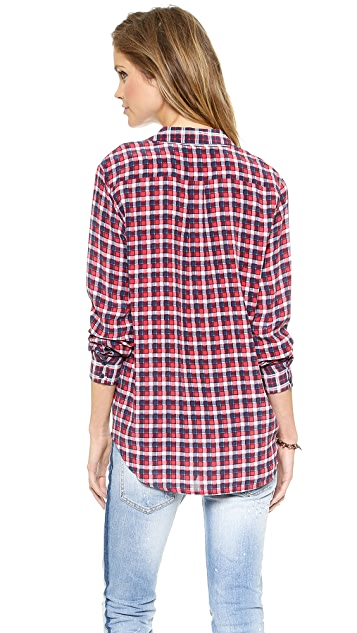 Equipment Mixed Plaid Keira Blouse