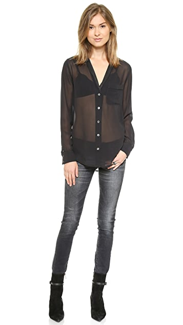 Equipment Keira Blouse with Contrast