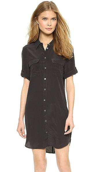 Equipment Short Sleeve Slim Signature Dress