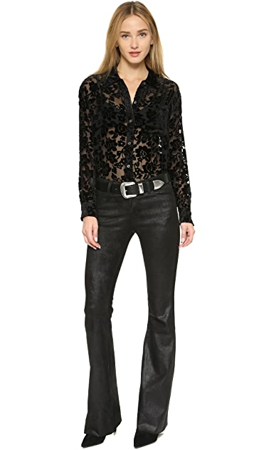 Equipment Daddy Velvet Burnout Blouse
