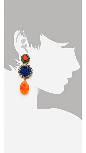 Erickson Beamon Rose Garden Earrings
