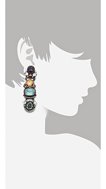 Erickson Beamon Modern Moghul Drop Earrings