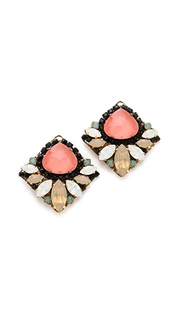 Erickson Beamon Pretty in Punk Stud Earrings