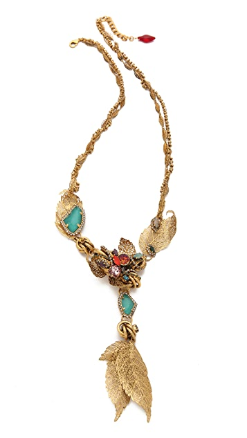 Erickson Beamon Garden Party Leaf Necklace