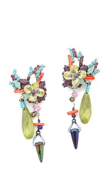 Erickson Beamon We've Got the Power Flower Spike Earrings