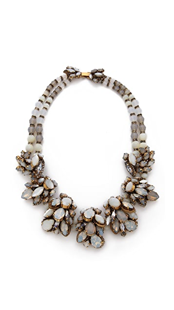 Erickson Beamon Whiter Shade of Pale Crystal Necklace