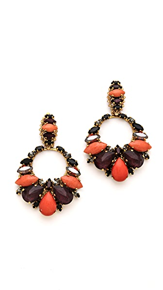 Erickson Beamon Rear Window Crystal Earrings