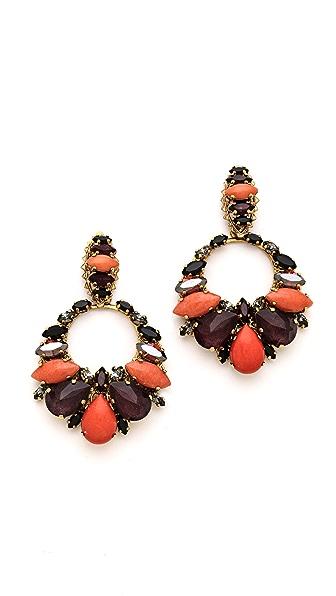 Erickson Beamon Rear Window Crystal Earrings