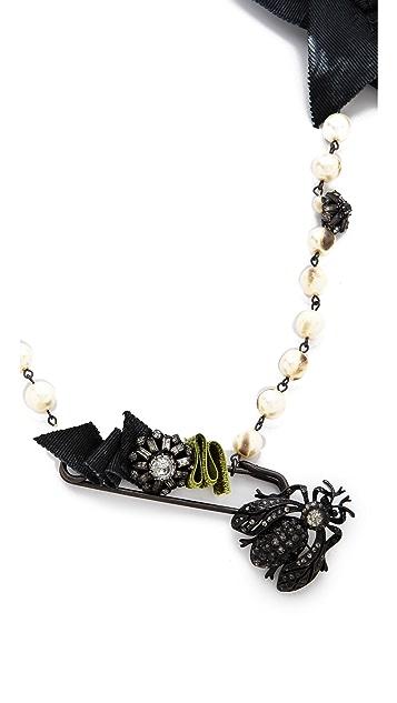 Erickson Beamon Take Everything Safety Pin Necklace