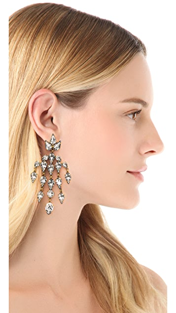Erickson Beamon Velocity Chandelier Earrings