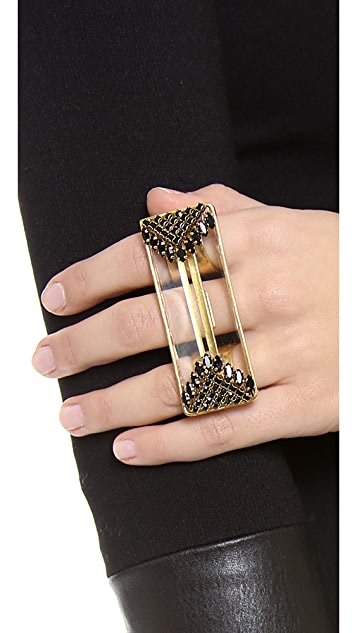 Erickson Beamon Velocity Multifinger Ring