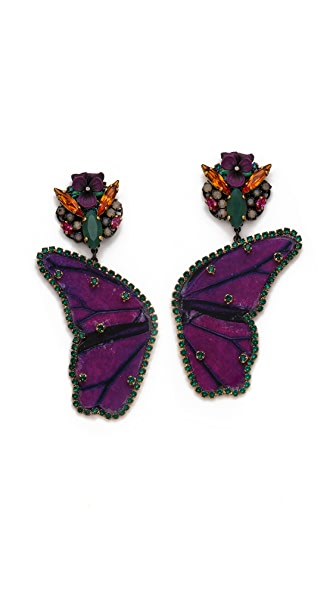Erickson Beamon Butterflies Are Free Earrings