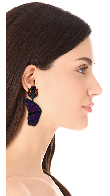 Erickson Beamon Butterflies Are Free Earrings