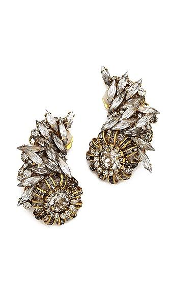Erickson Beamon Velocity Crystal Clip On Statement Earrings