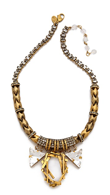 Erickson Beamon Velocity Crystal Drop Necklace