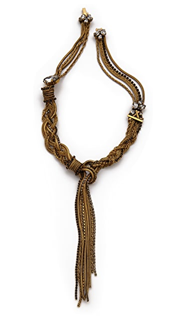 Erickson Beamon Velocity Woven Necklace