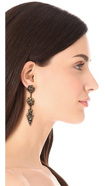 Erickson Beamon Heart of Gold Drop Earrings