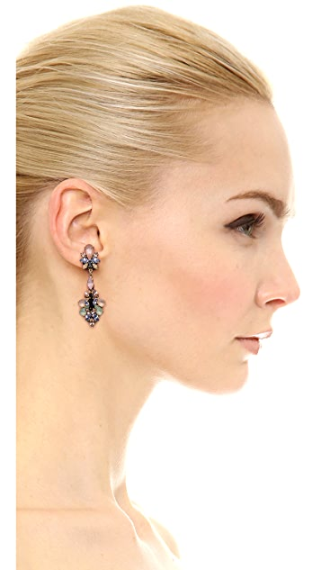 Erickson Beamon Cosmic Code Drop Earrings